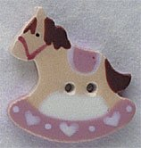 86293 - Small Pink Rocking Horse 7/8in x 1in - 1 per pkg